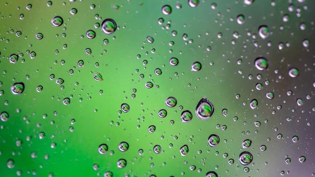 Waterdruppel vage achtergrond Premium Foto