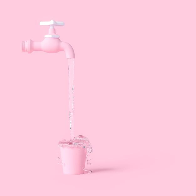 Waterkraan minimaal concept Premium Foto