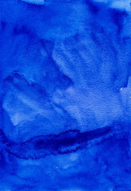 Waterverf abstracte diepe blauwe achtergrond Premium Foto