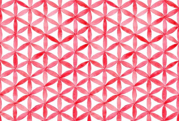 Waterverf met geometrisch patroon Premium Foto