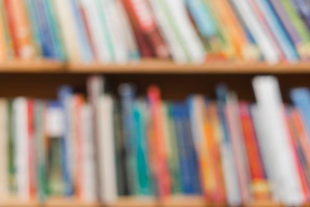 Wazig boeken over bibliotheek boekenkast Foto | Gratis Download