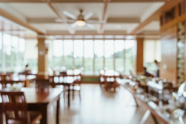 Wazig buffetrestaurant in hotelresort Premium Foto