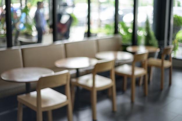 Wazig defocused winkel bar counter cafe restaurant relaxation concept Premium Foto