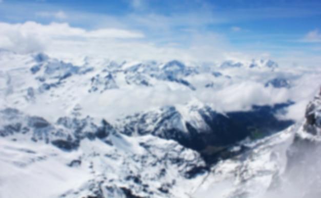 Wazig ijsberg, zwitserland Premium Foto