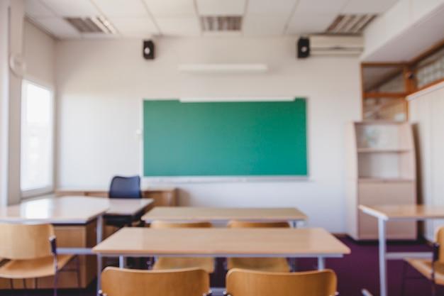 Wazig klaslokaal achtergrond Premium Foto