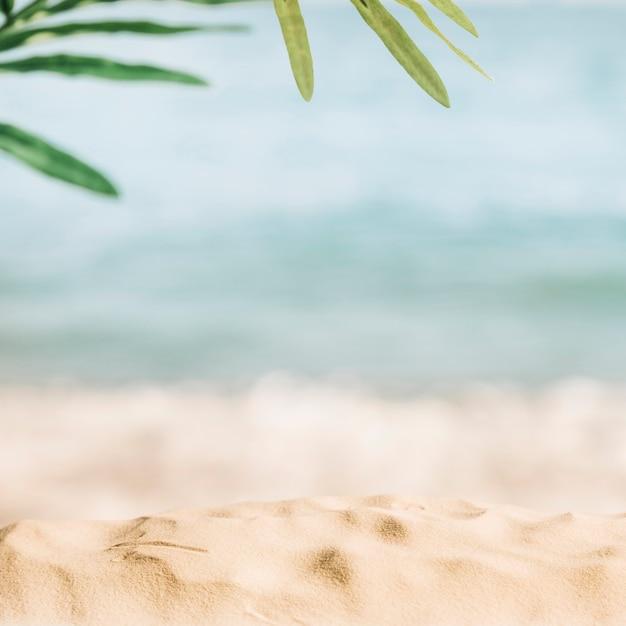 Wazig strand achtergrond Premium Foto