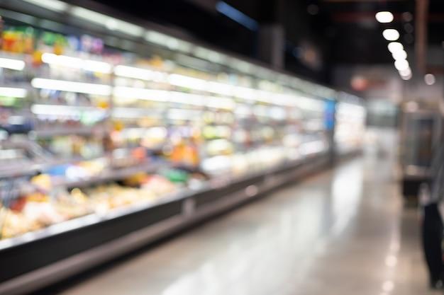 Wazig supermarkt Premium Foto