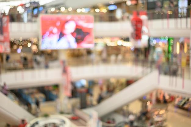 Wazig winkelcentrum met bokeh Premium Foto