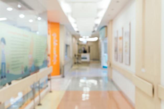 Wazige achtergrond: uitstekende filterpatiënt wachten op dokter. Gratis Foto