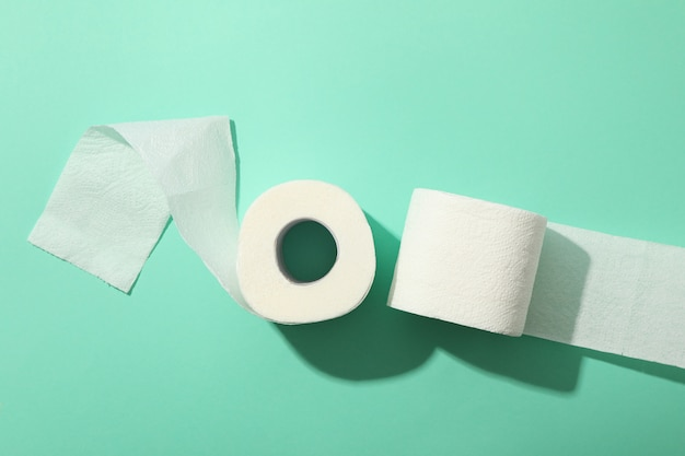Wc-papier, bovenaanzicht Premium Foto