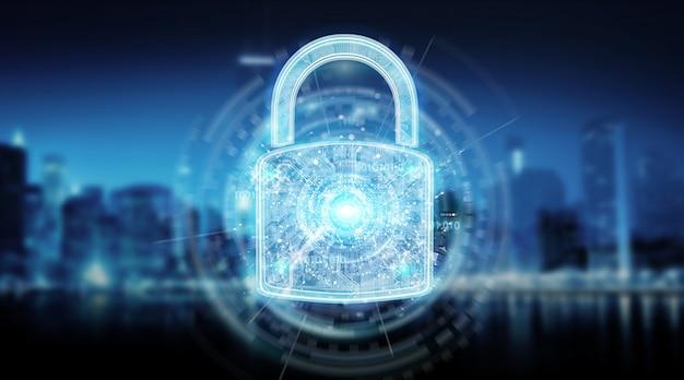 Web beveiliging bescherming achtergrond Premium Foto