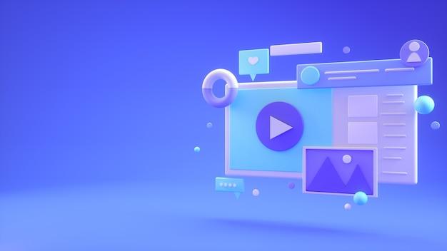 Webontwikkeling met vormen Premium Foto
