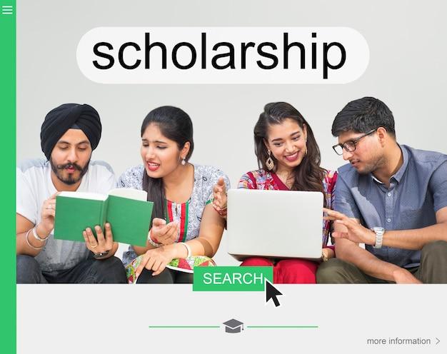 Webpagina voor universitaire beurzen Gratis Foto
