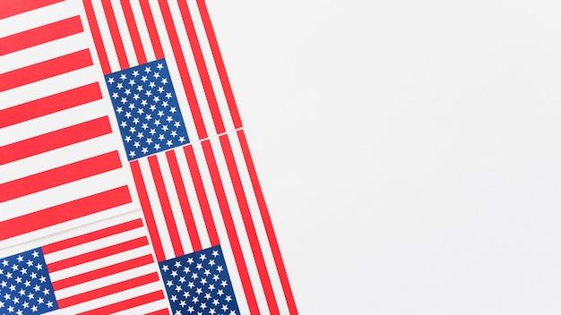 Weinig verenigde amerikaanse vlaggen Gratis Foto
