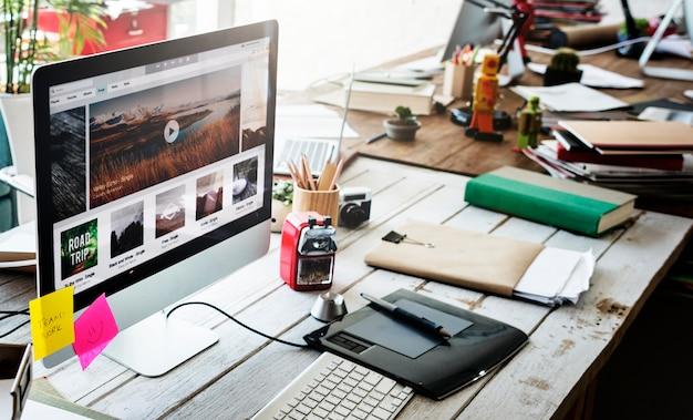 Werkplaats start bedrijfsbeheer planningsconcept Premium Foto