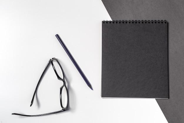 Werkruimte, bovenaanzicht Premium Foto