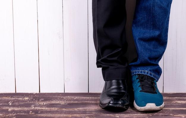 Werkschoenen en casual reisschoenen Premium Foto
