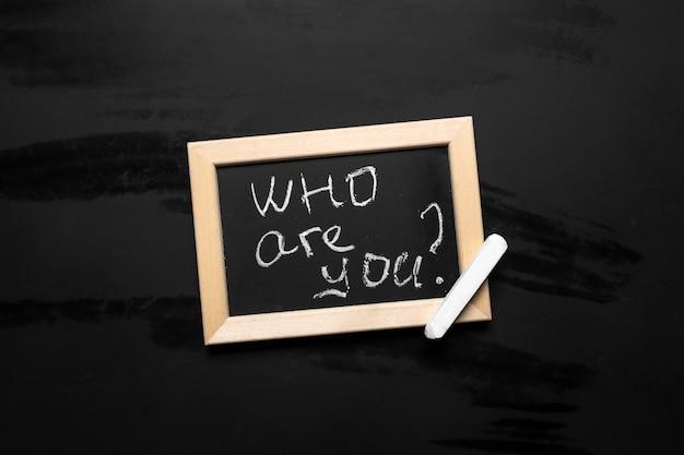 Wie ben je? Premium Foto