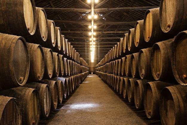Wijnkelder, porto Premium Foto