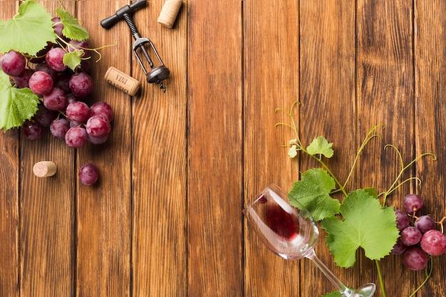 Wijnstokken en druiven voor rode wijn Gratis Foto