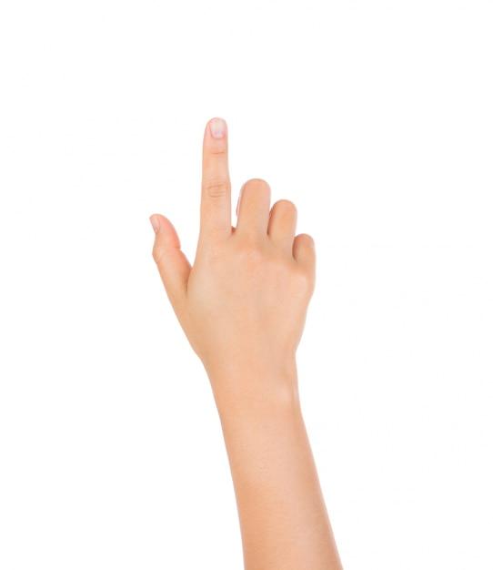 Wijsvinger iets te drukken Gratis Foto