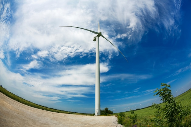Windmolen en windenergie Premium Foto