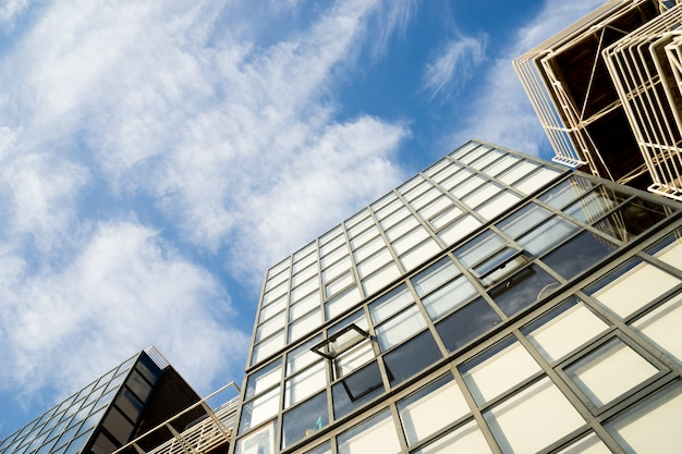 Windows of skyscraper business office corporate gebouw in londen, engeland, vk Premium Foto