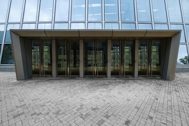Winkelcentrum entree glazen deur Premium Foto
