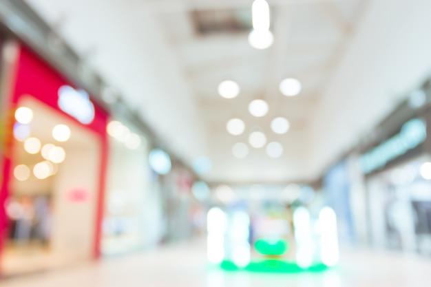 Winkelcentrum wazig voor Premium Foto