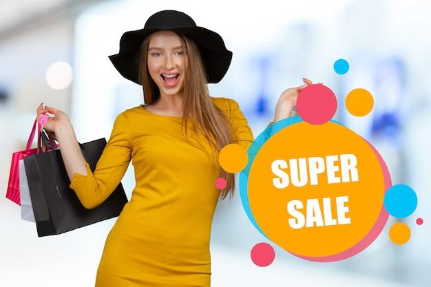 Winkelen verkoop Premium Foto