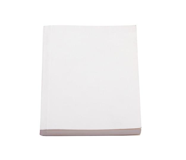 Wit boek geïsoleerd op een witte achtergrond Gratis Foto