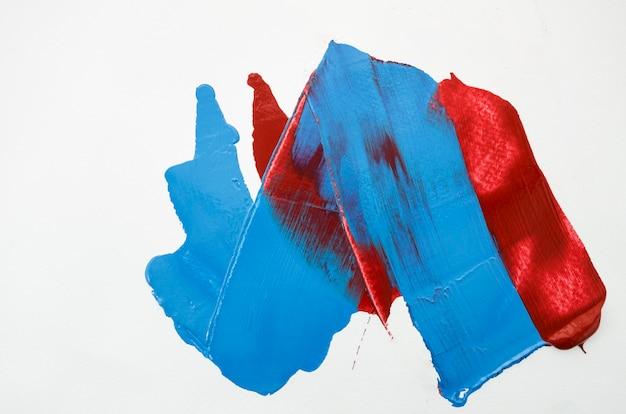 Wit canvas met rode en blauwe lijnen Premium Foto