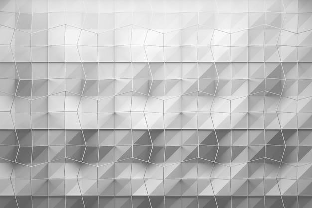 Wit geometrisch patroon met lagen gestructureerd oppervlak en gaas aan de bovenkant Premium Foto