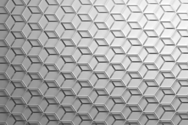 Wit herhalend patroon met zeshoekige wirefrmae en gescheiden zeshoeken Premium Foto