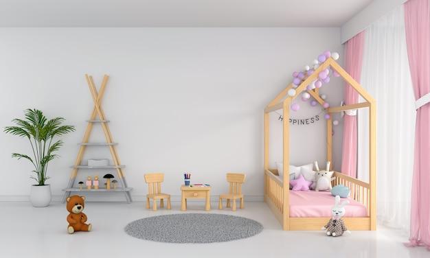 Wit kind slaapkamer interieur Premium Foto
