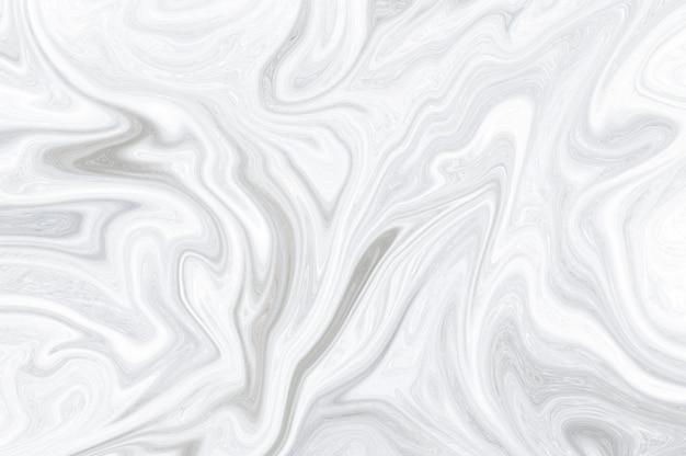 Wit marmeren minimaal wit marmeroppervlak, abstracte vloeibare verf gemarmerd vloeibare golven. Premium Foto