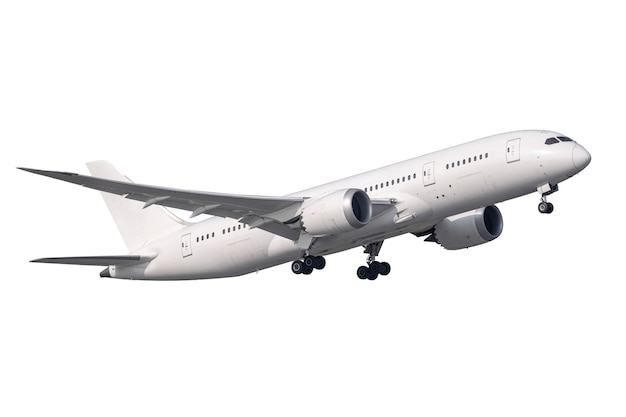Wit straalmotorvliegtuig Premium Foto