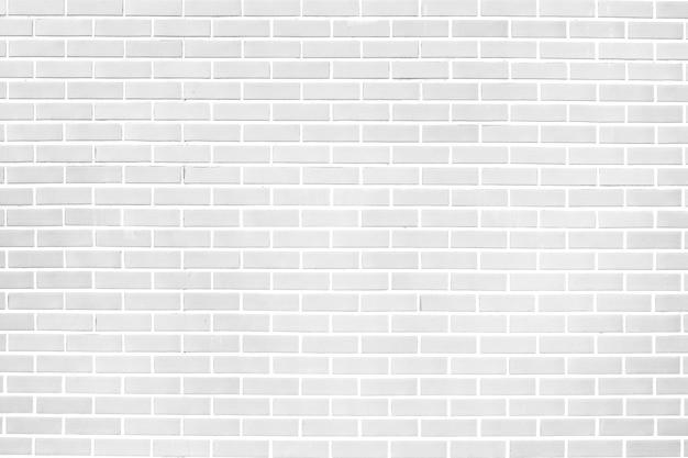 Wit van de bakstenen muurtextuur materiaal als achtergrond van de industriebouwconstructie. voor ontwerp Premium Foto
