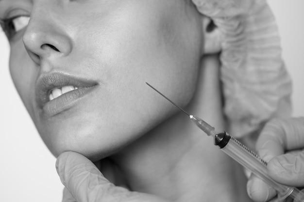Wit vrouwen esthetisch en kosmetisch chirurgieconcept Gratis Foto