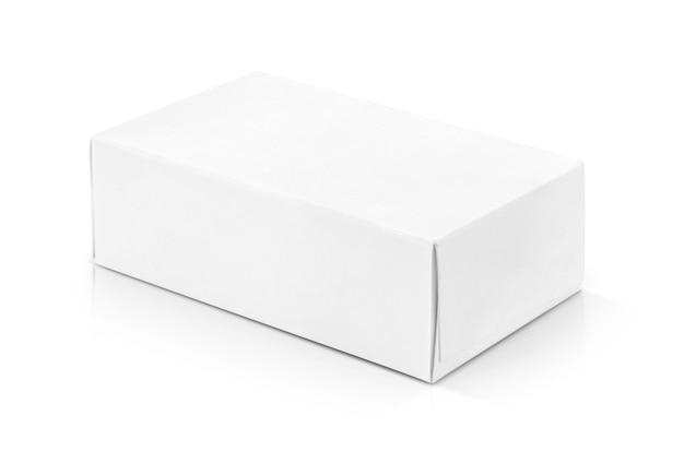 Witboekvakje voor productenontwerp. Premium Foto