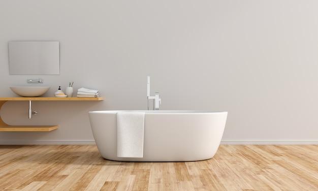 Witte badkamer binnenbad Premium Foto