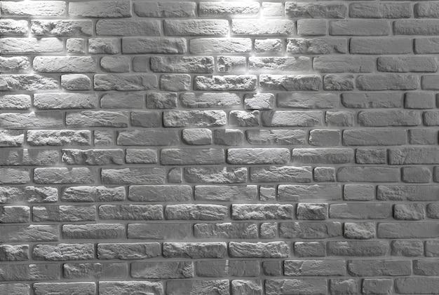 Witte bakstenen muurachtergrond of textuur. Premium Foto