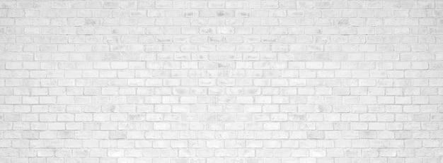 Witte bakstenen muurtextuur en achtergrond. Premium Foto