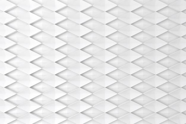 Witte diamant vorm 3d muur voor achtergrond, achtergrond of behang Premium Foto