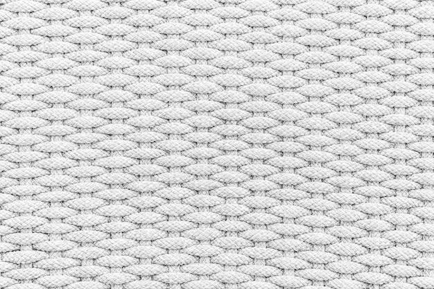 Witte en grijze kleur van touw textuur en oppervlak voor achtergrond Gratis Foto