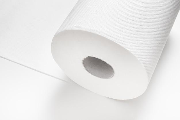 Witte grote grote rol keukenpapier Premium Foto
