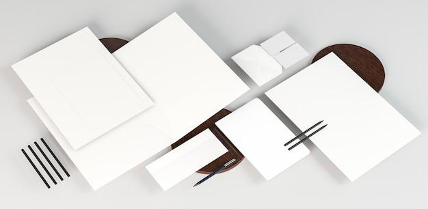 Witte lege papieren documenten kopiëren ruimte Gratis Foto