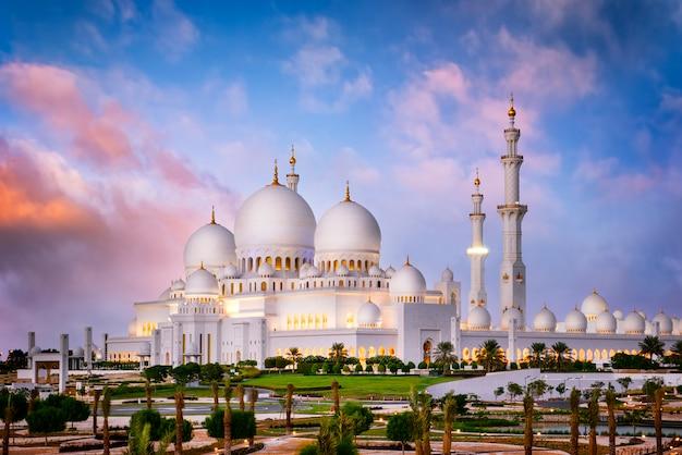 Witte moskee Premium Foto