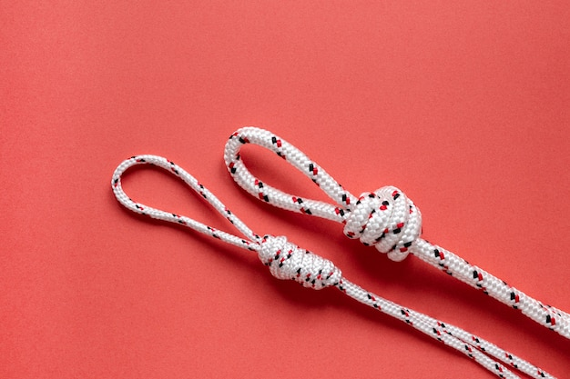 Witte nautische touwknopen Gratis Foto