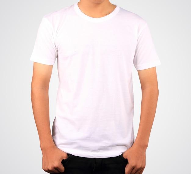 Witte shirt sjabloon Premium Foto